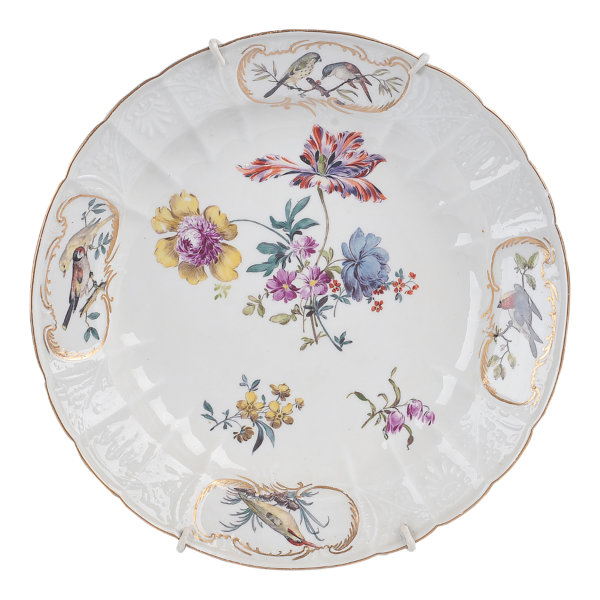 Meissen Porzellanteller - Blumenmotiv