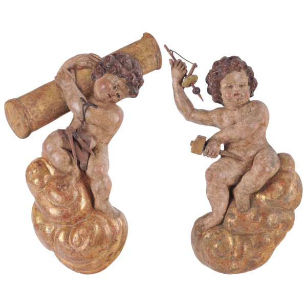 Paar Barockengel - Süddeutsch 18. Jahrhundert