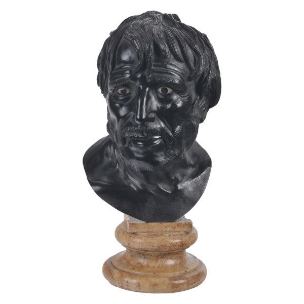 Seneca Portraitbüste - Bronze, Italien um 1780