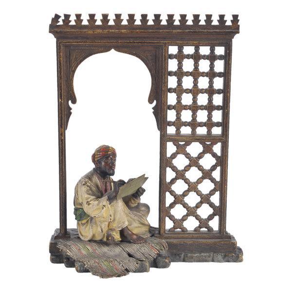 Beduine unter Baldachin - Wiener Bronze