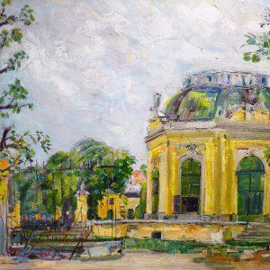 Carl Fahringer, Gemälde, Pavillon in Schönbrunn