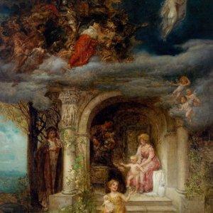 Eduard Veith, Gemälde, Allegorie der Vergänglichkeit