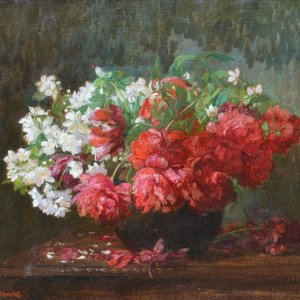 Hugo Charlemont, Gemälde, Blumenstillleben