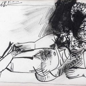 Pablo Picasso, Original Werk, Femme nue couchie